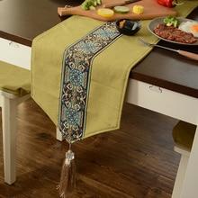 Chinese Traditional Table Runner With Fringe Luxury Patchwork Table Runners Home Decor Dresser Tea Dinner Table Runner Dustproof