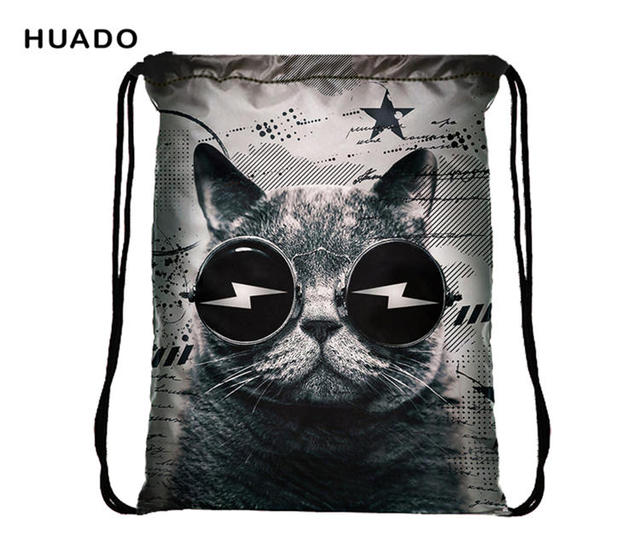 Cat Drawstring Bag Mens Outdoor Sport bag women Hiking Camping backpack  waterproof Backpacks for school   e0ddc0024f
