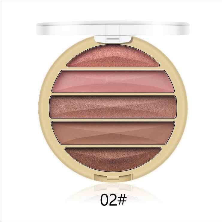 MISS ROSE matowa paleta cieni do powiek 5 kolorów brokat Nude cień do powiek baza makijaż kosmetyki