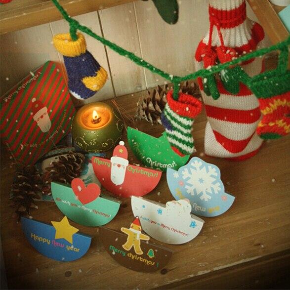 26e3718571885 Bonito cartões de natal com envelopes, Criativo Papai Noel mini Árvore De  Natal cartões para crianças
