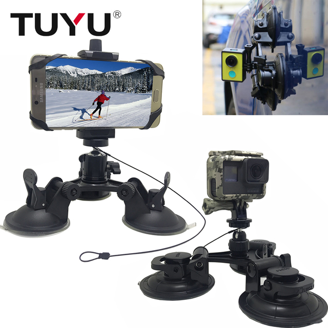 TUYU Small & Large Size Car Window Suction Cup Mount for GoPro Hero 6 5 4  HERO5 Session SJCAM SJ4000 Xiaomi Yi 4K EKEN H9 Camera-in Sports Camcorder