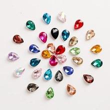 7 tamanhos 5-50 pçs multicolorido lágrima gota quente fix strass cristal pedras de vidro para diy arte do prego roupas decoração de casamento