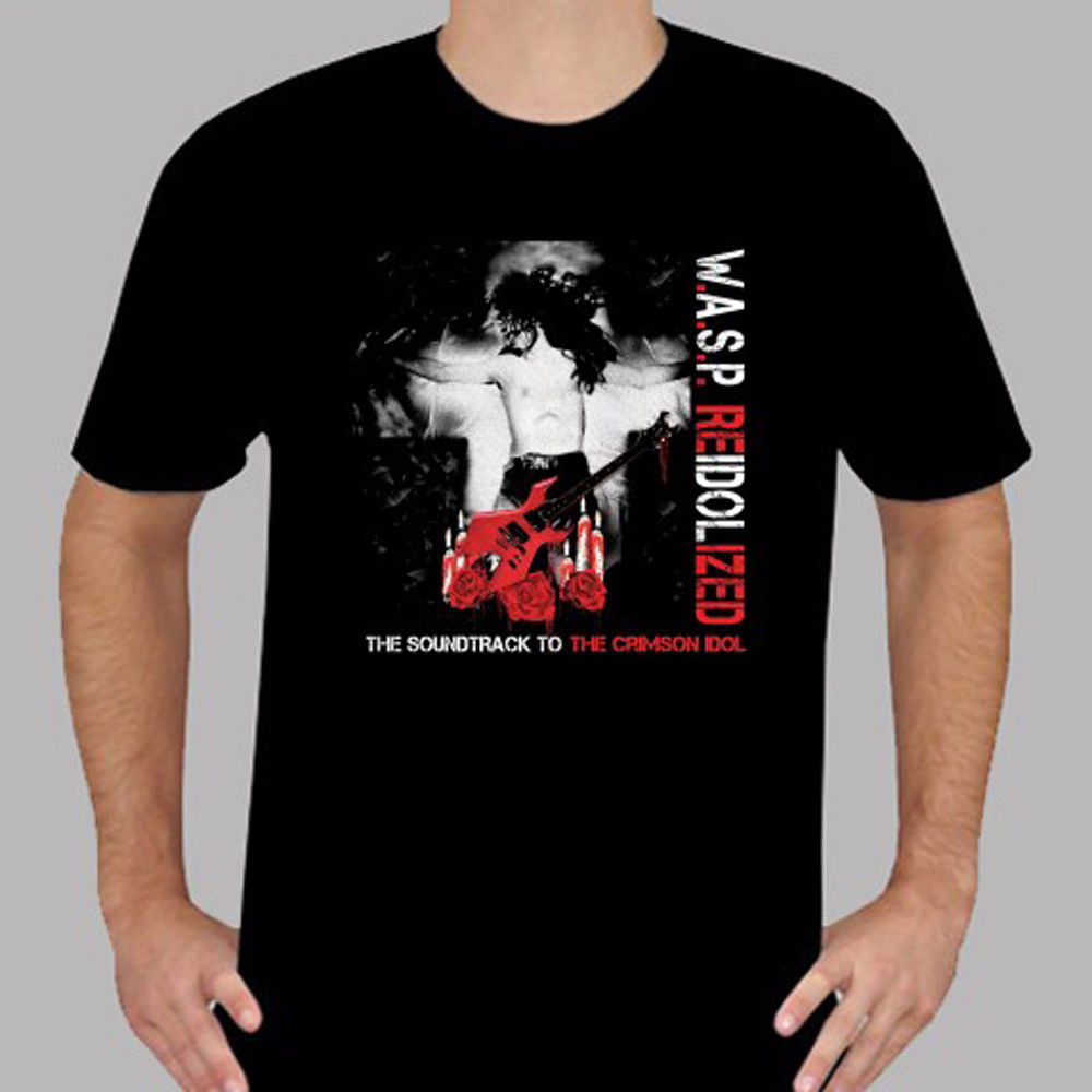 New W.A.S.P. Reidolized Rock Band Legend Mens Black T-Shirt Size S to 3XL Casual Short Sleeve T shirt Novelty