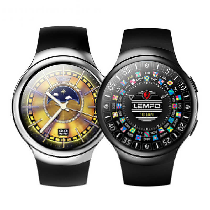 LES2 Smart Watch Google Map Cardiotach Ometer Gravity Sensor Smartwatch Gps,AGPS Co processor Watch Phone for Android IOS wavelets processor