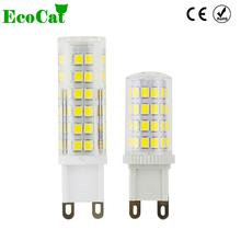 ECO CAT Lampada LED G9 G4 Bulb led 220V 5W 7W crystal bombillas LED G9 lamp Lights SMD 2835 Replace Halogen G4 G9 for Chandelier