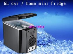 2018 new 6L mini car fridge refrigerator car  home dormitory car refrigerator cold box can be printed LOGO