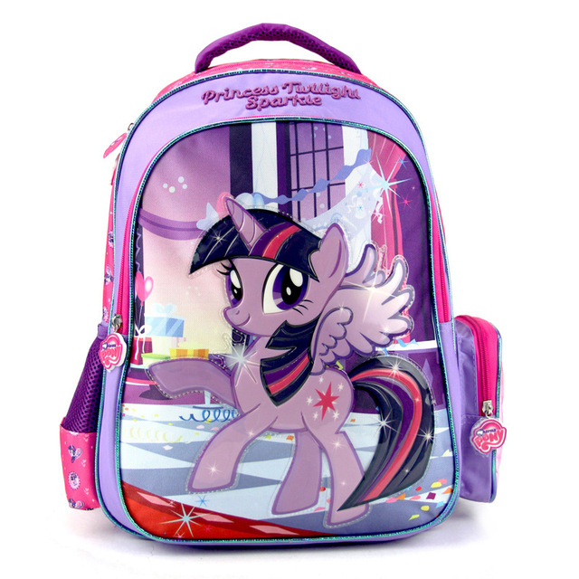 2017 новых детей мультфильм my little pony школьный девушки прекрасный рюкзак школьный Для детей дети Рождественский подарок bags1abc