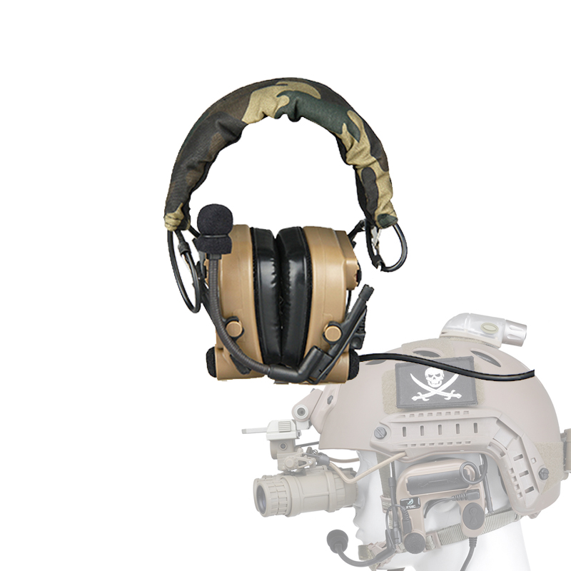 Tactical Black DE Color Hunting Headset For Outdoor Hunting Sports CL42-0013
