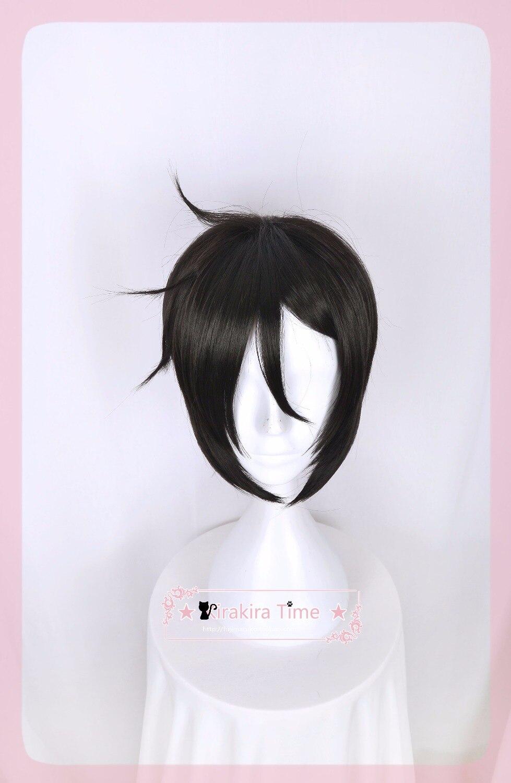 Kuroshitsuji Phantomhive Себастьян Михаэлис Косплэй парик короткие черные зеленый прямые волосы аниме Black Butler Ciel