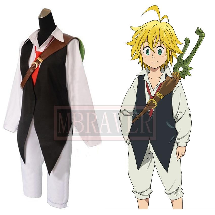 New Anime Seven Deadly Sins Meliodas Cosplay Costume Nanatsu no Taizai Custom Any Size