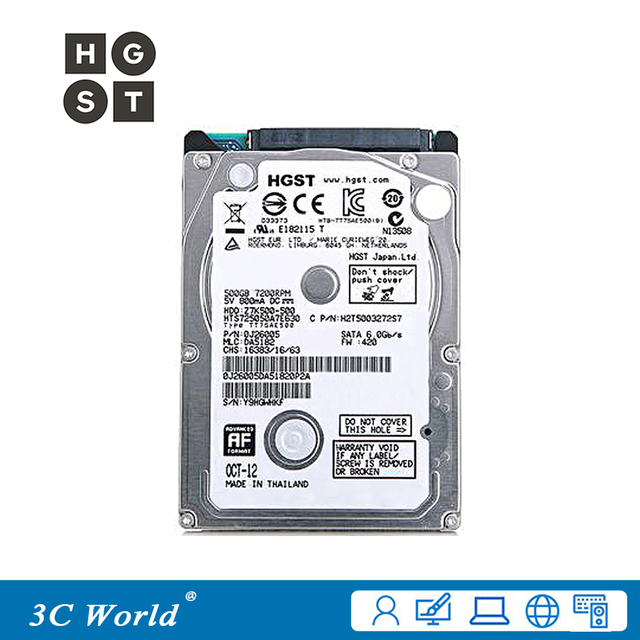 Original HGST Hard Drive 500GB HDD 7200rpm 32MB Cache 7mm SATA III