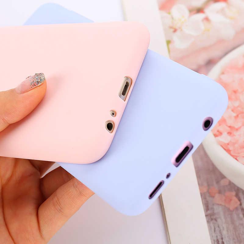 Caramelo Color sólido caso para Samsung Galaxy A50 A70 A40 A30 A20 A10 Nota 10 S8 S9 S10E S20 J4 J6 más A51 A71 A7 2018 cubierta del teléfono