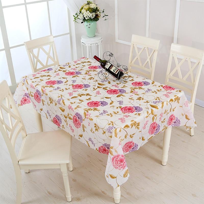 PVC mantel sobre la mesa hule mantel impermeable para cocina comedor ...