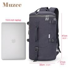 Muzee High Capacity Travel Bag Cylinder Packbage Multifunction Rusksack Male Fashion Backpack Shoulder bag Drop Shipping