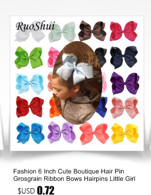 7952c5af77652 --6 Inch 2 Layer Luxury Rhinestone Bowknot Children Grosgrain Ribbon Bow  Hair Clips Hairpin Flower Girl Headwear Hair Accessories--