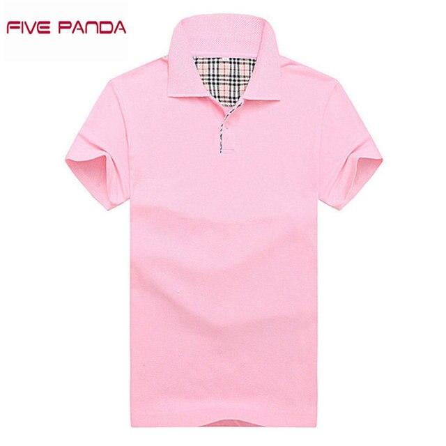 ПЯТЬ ПАНДА 2017 Модный бренд Хлопок Polo Shirt Мужчины Дышащий Повседневная Твердые Polo Рубашка Топы Плюс Размер Мужчины Polo CMPL009