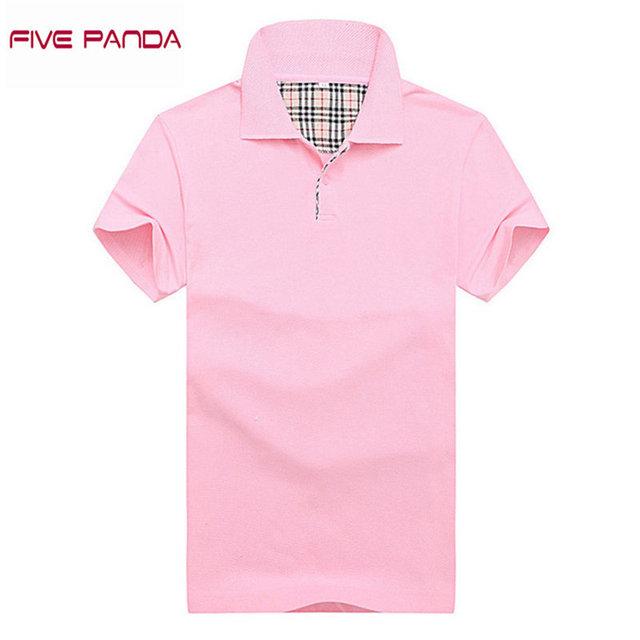 Cinco de la panda 2017 algodón de moda de marca polo camisa de los hombres ocasionales respirables solid polo shirt tamaño tops plus hombres polo cmpl009