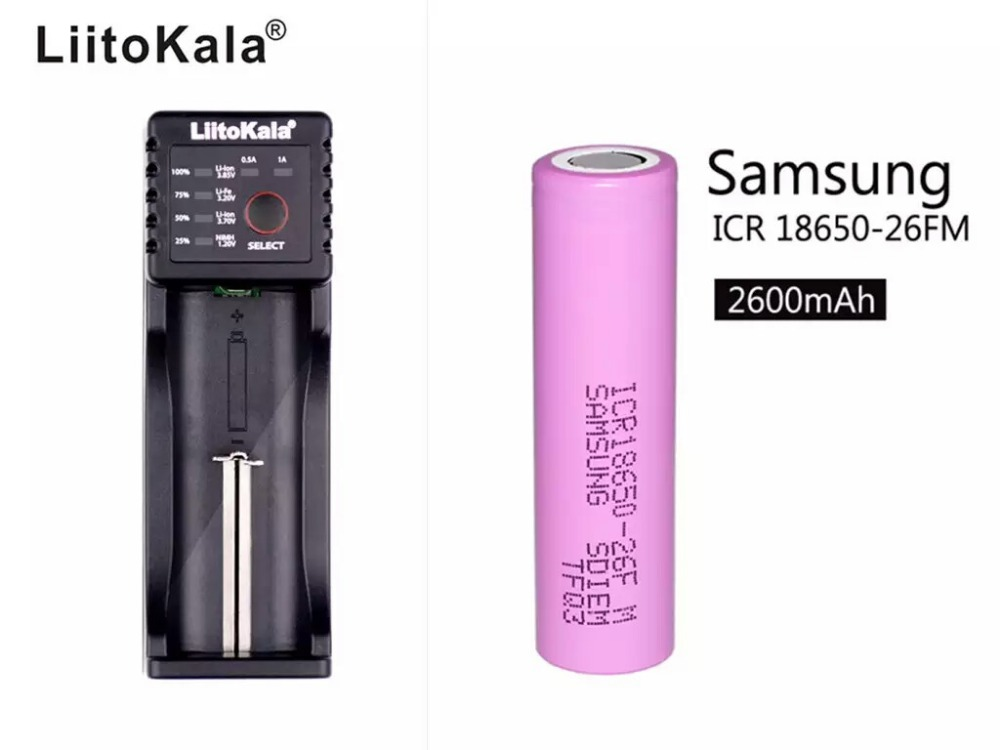 Liitokala Lii-100 1.2v /3v /4.25v /3.7v battery products in all shapes and sizes of Lii100 charger+1pcs 18650 2600mah battery