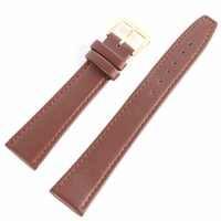 Black & Coffee 12 -20 mm Men Women Durable Soft Pin Buckle Watch Strap PU Leather Watchband women's watches Accessories