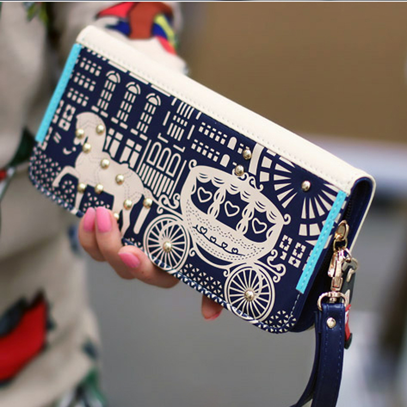 New Fashion Women Wallets Cartoon Leather Wallet Female Card Holder Coin Purse Womans Wallet Women Purse Wristlet Small Wallet