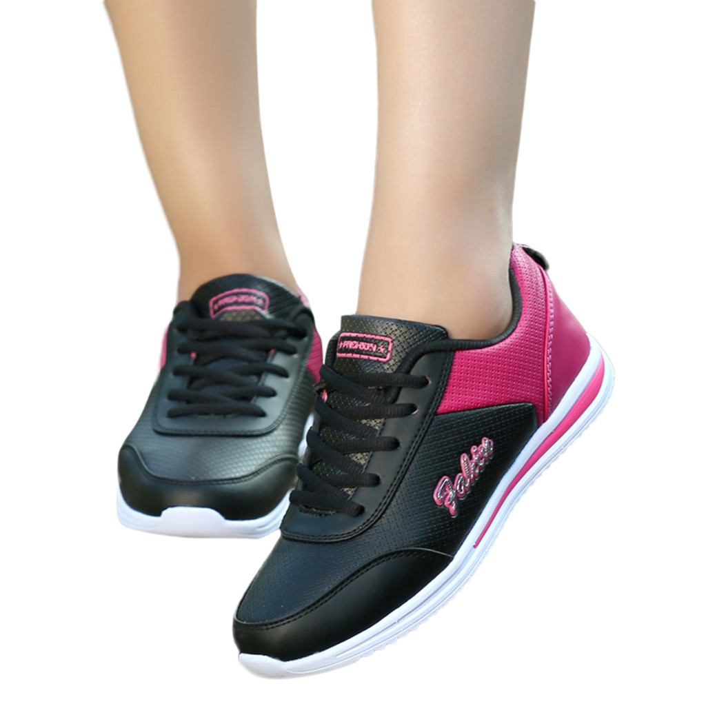 YOUYEDIAN Ladies Shoes Flat-Sneakers Women's Breathable Fashion Feminina Mixed-Colors title=