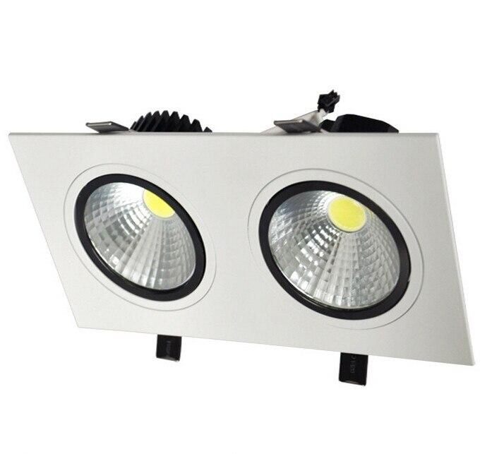 Лидер продаж! 20 Вт затемнения двойной cob потолочный светильник Встраиваемые Кабинет лампы AC100-245V для Гостиная освещения энергосберегающие