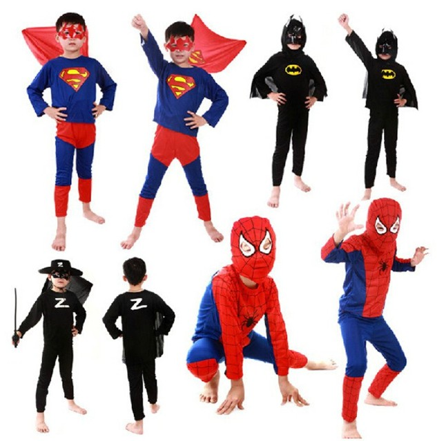 Red spiderman costume spiderman batman superman capas de super-heróis trajes de halloween crianças menino menina anime cosplay carnaval Terno