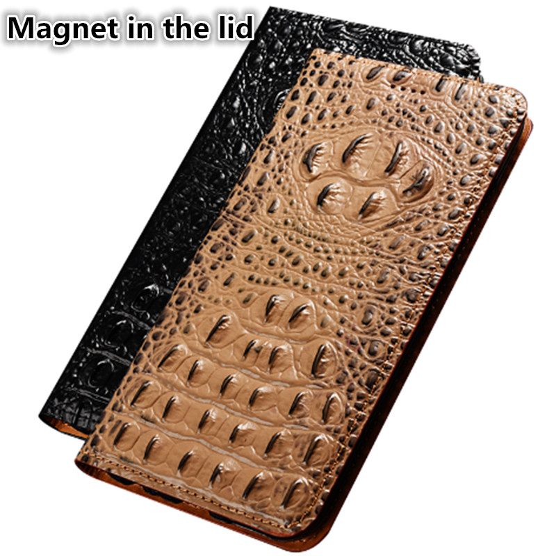 CJ11 Crocodile back pattern natural leather phone case for Nokia 9 PureView case for Nokia 9 PureView(5.99') phone bag