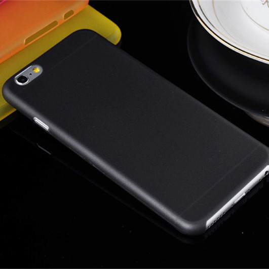 wholesale dealer 1ef8f 789aa US $0.86 5% OFF|Top Quality New 0.3mm Slim Ultra Thin Translucent Design  Matte Back Cover Phone Cases For iphone 6 6s Case multicolor optional-in ...
