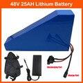 Бесплатная доставка 48В 1000 Вт Батарея для электрического велосипеда 48В 25ач треугольная литиевая батарея с бесплатной сумкой ПВХ чехол 30А BMS ...