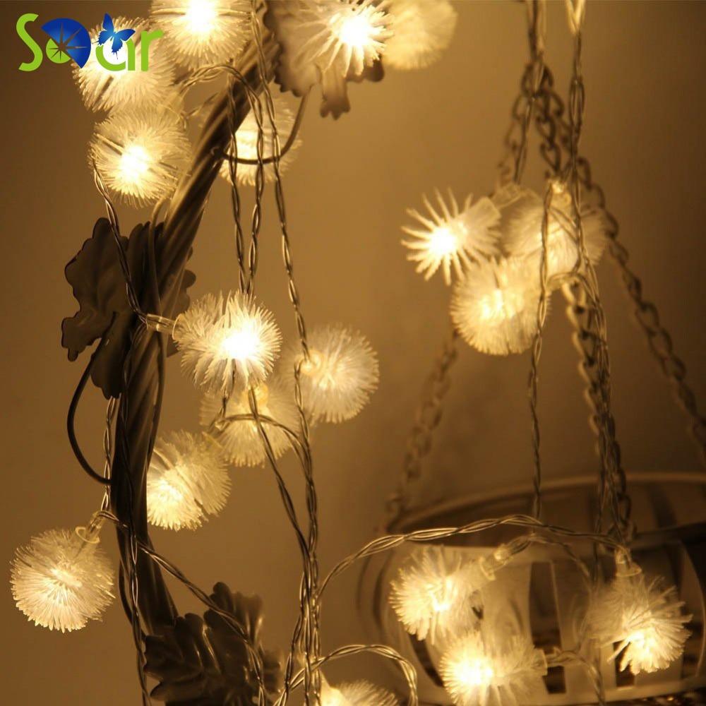 led snow fairy string lights 40 led 15ft dandelion outdoor indoor rope light decorative for. Black Bedroom Furniture Sets. Home Design Ideas