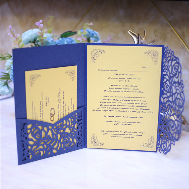 many colors laser cut wedding invitations bridal shower invitation cards with envelope personalized printing