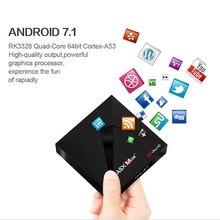 OTHA A5X Max 4GB 32GB Smart Android 7.1 TV Box Dual WiFi 1000M LAN BT 4.1 RK3328 Quad-Core MINI PC VP9 H.265 HDR10 4K TV Box