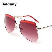 ADDANY Luxury Designer Brand real metal frame sunglasses women retro pilot glass famous sun glasses oculos de sol feminino