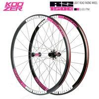 Koozer rs1500 도로 자전거 700c wheelset 전면 2 후면 4 베어링 72 링 30mm 림 2:1 스포크 휠