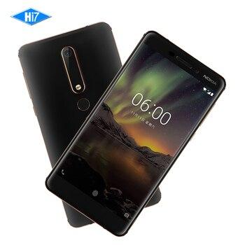 2018 Nokia 6 Deuxième génération 2ème TA-1054 Android 7 Snapdragon 630 Octa core 5.5 ''16.0MP 3000 mAh 4G RAM 32G ROM téléphone Mobile
