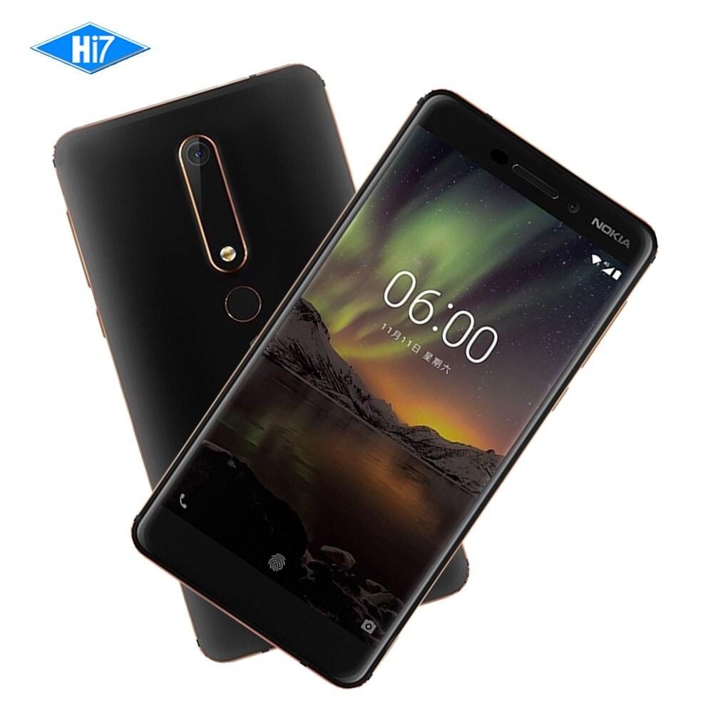 2018 Nokia 6 Deuxième génération 2nd TA-1054 Android 7 Snapdragon 630 Octa core 5.5 ''16.0MP 3000 mah 4g RAM 32g ROM Mobile téléphone