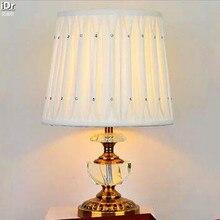 Континентальный белый алмаз моды спальня прихожая кухня ткань Спальня лампа Зал Настольный свет wwy-0006