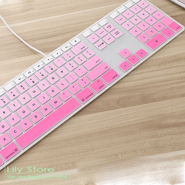 quality design d3e2d 61bc1 US $3.41 5% OFF For Apple Keyboard Cover iMac G6 Desktop Protector Colorful  Silicone Skin With Numeric Keypad For Mac G5 Skin Protective Skin-in ...
