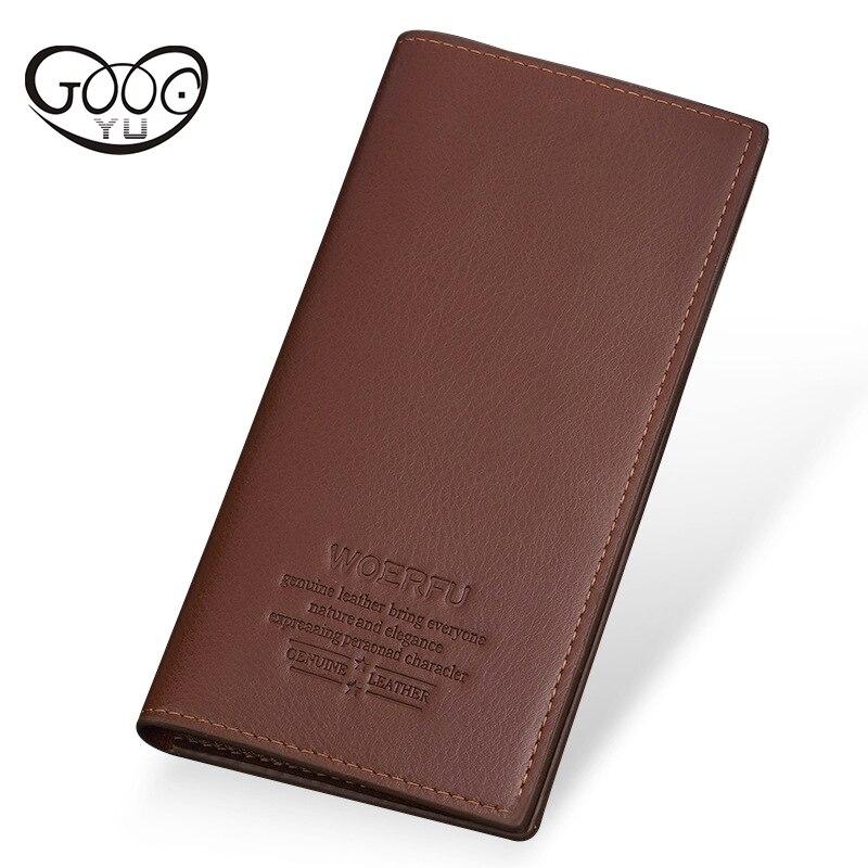 GOOG.YU luxury brand famous male clutch money bag small pocket Slim wallet men Thin wallet men leather purse soft men wallets