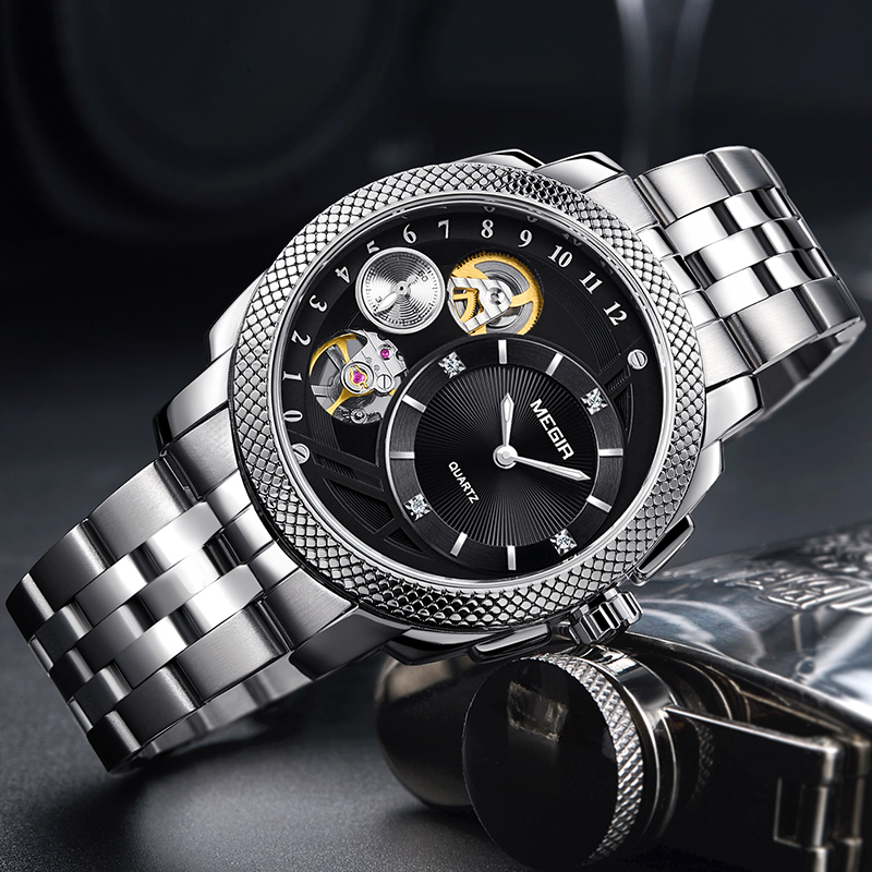 Brand Luxury 2018 New Fashion Quartz Watch Men Waterproof Leather Band Steel Wristwatch