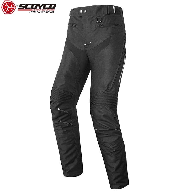 SCOYCO Motorcycle Waterproof Pants Windproof Shockproof Anti skip Built in Protectors Extreme Equipment Pants Motocross P063