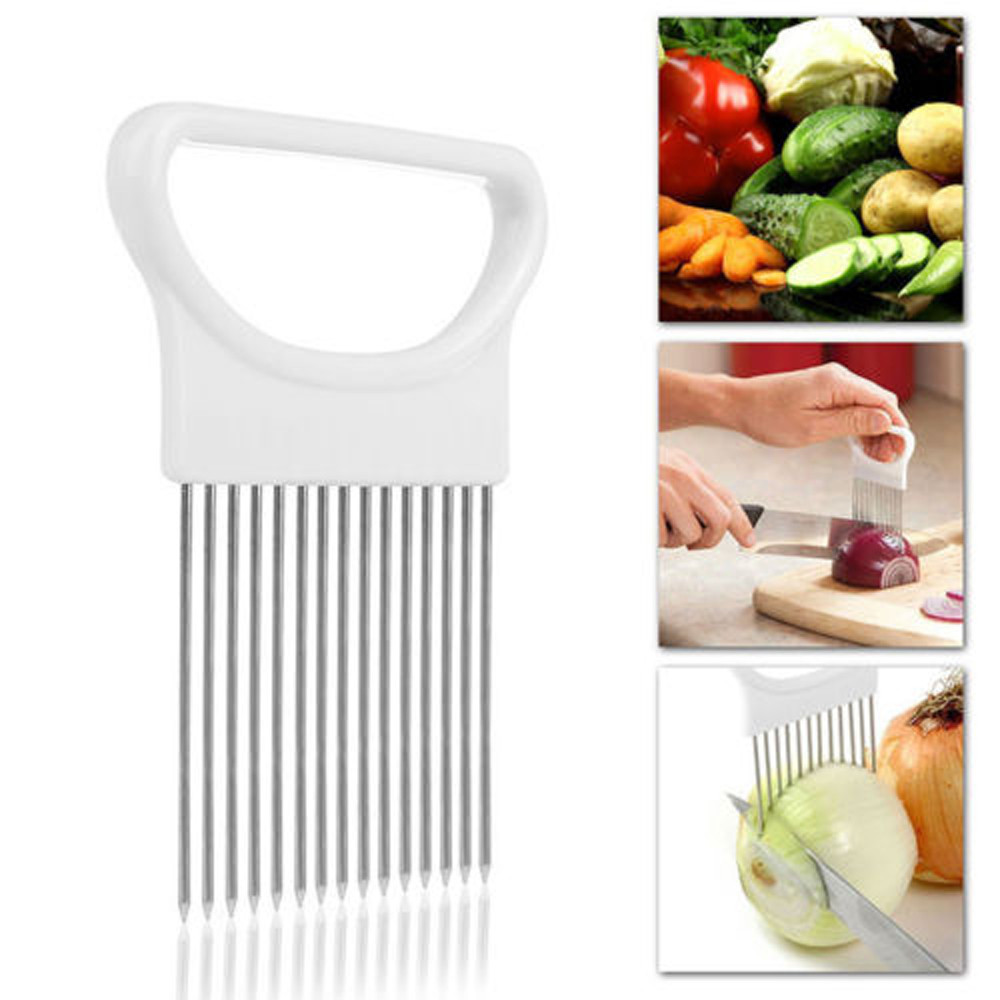 Vegetables Slicer Aid-Holder Cooking-Tools Cutting Tomato Onion Kitchen 1PC Guide Safe-Fork