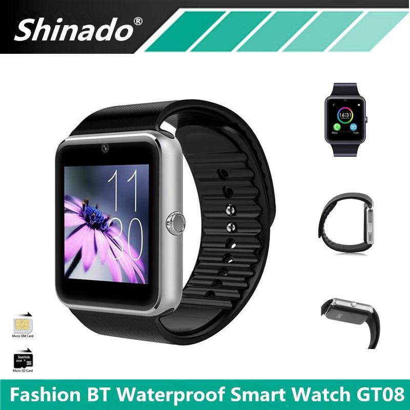 Waterproof font b Smartwatch b font GT08 Bluetooth Smart Watch Support SIM TF Card Camera Sport