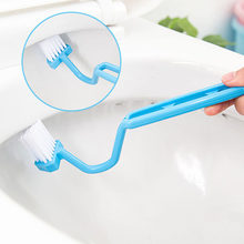 Bathroom Cleaning Accessories Bending Handle S Shape Plastic Toilet Cleaning Brush Portable Toilet Brush 1Pcs(China)