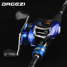 DAGEZI Fishing Lure Rod Combo Tyczki reel przynęta Pręt combo 1.8 m/2.1 m/2.4 m casting rod + reel fishing tackle(China)