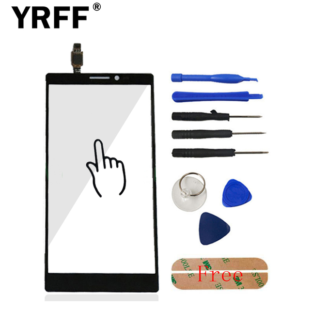 New For Lenovo Vibe Z2 Pro K920 HighScreen Touch Screen Digitizer Panel Front Glass Capacitive Sensor + Sticker Free Shipping