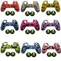 9 cores de Camuflagem 100% Silicone Anti-Slip Caso Protetora Da Pele de Alta Qualidade 2x Crânio Estilo Joystick caps para PS4 Controlador