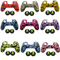 9colors Camouflage 100% Silicone Anti-Slip High-quality Protective Skin Case  2x Skull Style Joystick caps for PS4 Controller