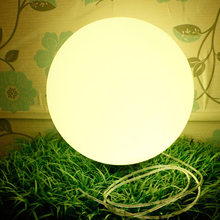 Фотография LED glow dome light outdoor waterproof rechargeable glowing ball garden lawn lamp creative landing spherical lamp Diameter 15cm